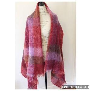 Vintage Scottish Mohair Tartan Wrap